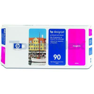 HP DESIGNJET 4000 NO 90 PRINTHEAD AND CLEANER MAGENTA 